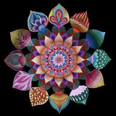 Mandala de la unidad, Original pintura de Mandala, impresión en lona, decoración…