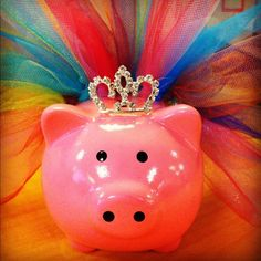 PigglyCouture Piggy Bank. $10.00, via Etsy.