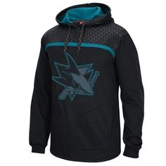 Mens San Jose Sharks Reebok Black Cross Check Pullover Hoodie for my boyfriend who loves his Sharks