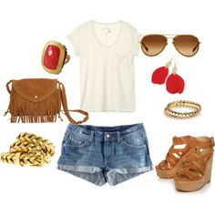 Hippie chic summer outfit!