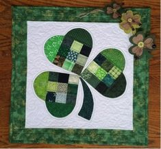 Happy St. Patrick's Day everyone! When I saw the pattern for this cute, quilted wall hanging, I couldn't resist making it. The pattern is by Joan Ford on Bernina's WeAllSew.com. Each heart-shaped s...