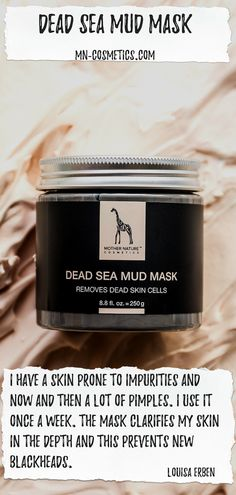 Dead Sea Mud Mask Anti Aging, Totes Meer, Dead Sea Mud, Pimples, Mother Nature, How To Remove, Pimple, Dry Skin, Cleaning