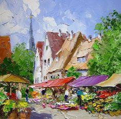 New Landscape Paintings Oil Tutorials Palette Knife Ideas Landscape Drawings, Cool Landscapes, Watercolor Landscape, Landscape Art, Landscape Paintings, Pintura Exterior, Artist Art, Art Oil, Painting & Drawing