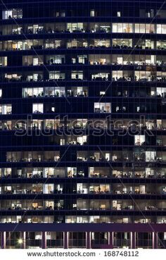 Modern Skyscrapers of Moscow City business cente at night - stock photo