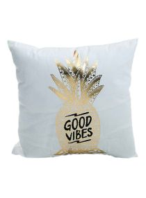 Super Soft Pineapple Love Letters Bronzing Hot Silver Pillow Sets Of Cotton And Linen Car Sofa Cushions Pillow Decorative Pillow Cases, Throw Pillow Cases, Pillow Set, Decorative Throw Pillows, Cushion Pillow, Cushion Covers, Pillow Covers, Pillow Inserts, Car Sofa