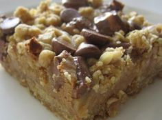Peanut Butter and Oatmeal Dream Bars...sounds good.
