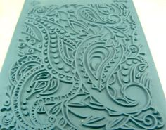 Lisa Pavelka Paisley Rubber Stamp for Clay by artisticrenderings