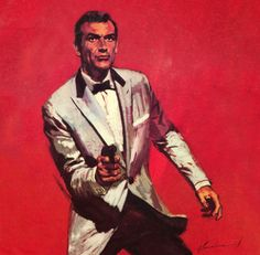 Intrepid's Illustrations, Inspirations & Inanity — James Bond - art by Jordi. James Bond Books, James Bond Movies, Gentlemans Club, Bond Series, Robert Mcginnis, Sean Connery, Pulp Art, Cultura Pop, Pulp Fiction