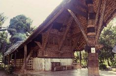 Massive structure of a Toraja house