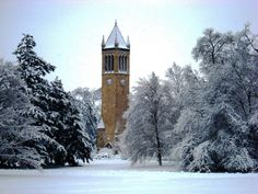 Winter on the Iowa State Campus