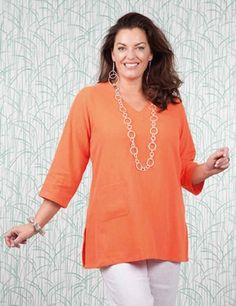 Plus size Towthorpe orange top
