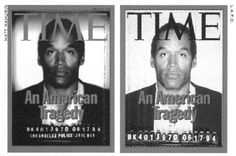 OJ TIME magazine cover - The cover is designed to sell the magazine, and the article is written to tell the story.