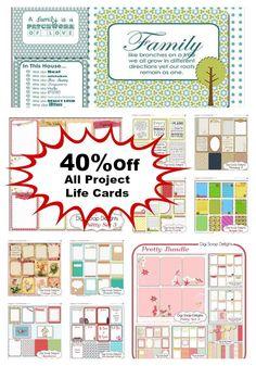 40% Off Store Wide All Digital Scrapbook Kits, Project Life Cards and Clip art Digi Scrap Delights