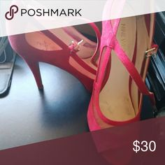 Peep Toe Heels Mesh & Suede material Nine West Shoes Heels