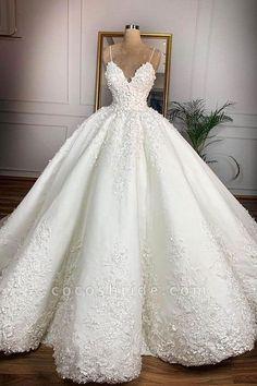 Puffy Wedding Dresses, Wedding Dress Trends, Tulle Wedding, Cheap Wedding Dress, Bridal Lace, Dream Wedding Dresses, Elegant Wedding, Bridal Dresses, Wedding Gowns