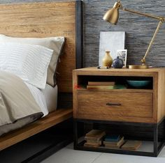 i adore this wood and iron bedside table