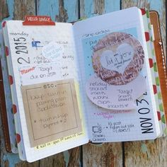 Monday and Tuesday...sticky notes to sort and a reminder to let go all of the things that are bugging me. *inserts from FrasizzleMade on Etsy, traveler's notebook is a Personal ChicSparrow Mr. Darcy in buttered rum* #chicsparrow #chicsparrowmrdarcy #travelersnotebook