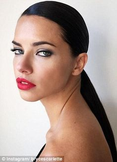 Stun in red lips like Adriana Lima