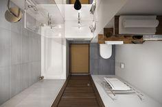 Raumplanung eines kleines Badezimmers mit Badewanne