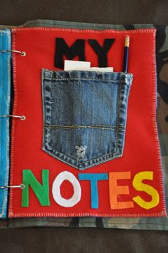 Quiet Book Page or pocket on back.