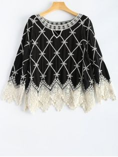 GET $50 NOW | Join RoseGal: Get YOUR $50 NOW!http://www.rosegal.com/blouses/lace-hem-embroidery-rhombus-pattern-779875.html?seid=1766811rg779875