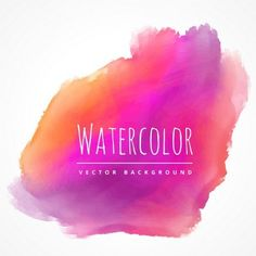 red and purple watercolor stain vector Paint Background, Watercolor Background, Pink Watercolor, Orange, Graphic Design, Purple, Red, Artist, Vector Free