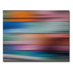 Ready2HangArt Blur Stripes XVII Wrapped Canvas Wall Art - STRP17-GWC1216
