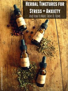 Herbal tinctures to treat stress, anxiety, and panic attacks...and how to make them at home