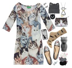 """I Love Cats"" by saraishi ❤ liked on Polyvore featuring Charlotte Olympia, HOT SOX, PyroPet, CellPowerCases, Silver Spoon Attire, Catseye London, Betsey Johnson, Bling Jewelry and cat"