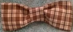 Brown Plaid Bow Tie by Preppy Dog Boutique  www.PreppyDogBoutique.com  www.Facebook.com/PreppyDogBoutique
