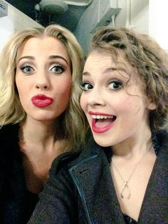 Carrie Hope Fletcher and Celinde Schonmaker
