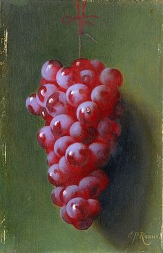 Carducius Plantagenet Ream Still Life with Grapes 19th century