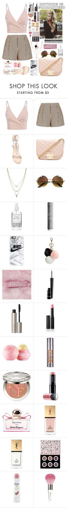 """""""Nothing is Guaranteed"""" by autumnj24 ❤ liked on Polyvore featuring 3.1 Phillip Lim, Rebecca Minkoff, Forever 21, Jessica Simpson, Herbivore, GHD, Casetify, GUESS, MAC Cosmetics and Ilia"""