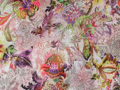 Viskosejersey Fantasy Summer, P-8983,  bei stoffe-hemmers.de, Sehr schöner Viskosejersey mit fantasievollem und farbenfrohem Design,