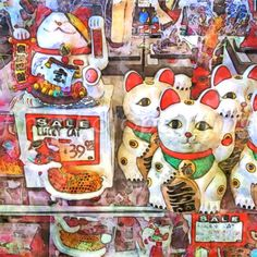 Lucky Cat iPad Photo/print depicting San Fran's Chinatown by David Mays
