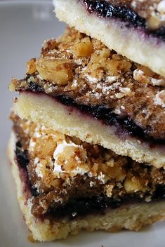 Yugoslavian Blackberry bar cookies
