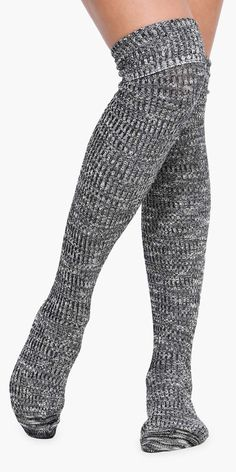 Over The Knee Socks in Grey - cute and comfy!