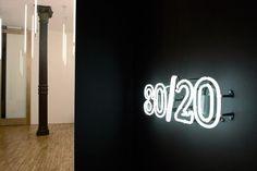 White Neon Lighting at Studio 80/20