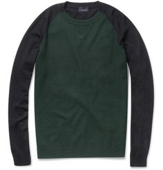 LanvinContrast-Front Wool Sweater|MR PORTER