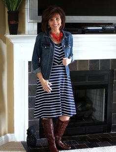 Stitch Fix -striped Jersey Dress  Love how versatile this would be with other items I already own!