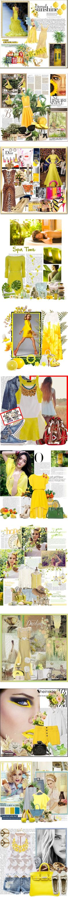 """Fine Mellow Yellow!"" by traceysfashionoutlook ❤ liked on Polyvore"