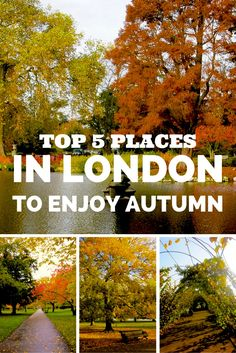 My 5 Favorites Places to Enjoy Autumn in London! Click through to read more on my travel blog :)