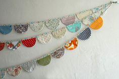 Another fabric garland - Otra guirnalda de tela
