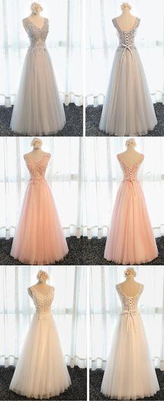 Elegant Sleeveless Prom Dresses,Long A-line Prom Dresses, Lace Up Back Prom Dress,PD210101 - Thumbnail 1