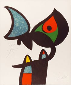 Plate VI from Espriu Miró by Joan Miró on artnet Joan Miro Paintings, Paintings I Love, Kandinsky, Miro Artist, Famous Abstract Artists, Abstract Face Art, Pablo Picasso, Spanish Artists, Pin Art