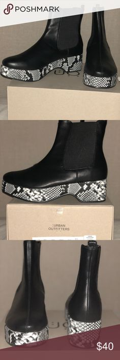 Urban Outfitters Eva Snakeskin Bootie Brand New Urban Outfitters Platform Snakeskin Bootie Urban Outfitters Shoes Ankle Boots & Booties
