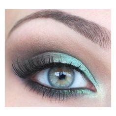 Weddbook Wedding Makeup for Green Eyes found on Polyvore
