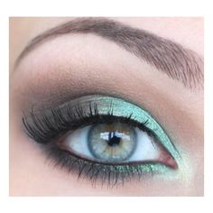Weddbook Wedding Makeup for Green Eyes ❤ liked on Polyvore