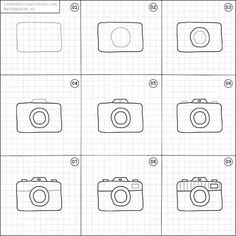 How to draw a camera.