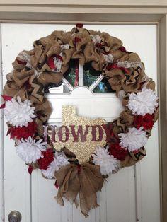 Aggie-inspired wreath to brighten your door!